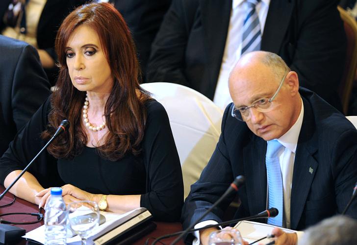 Cristina Kirchner junto a Timerman