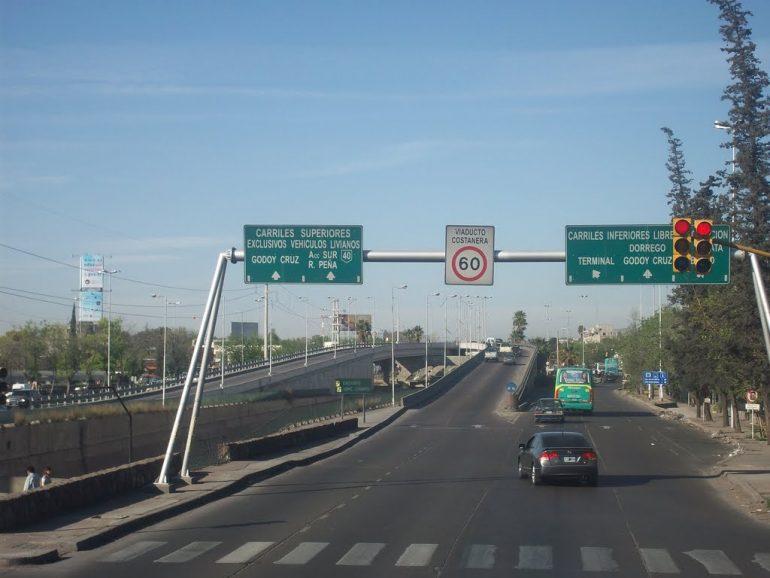 Megaobra en la costanera de Mendoza