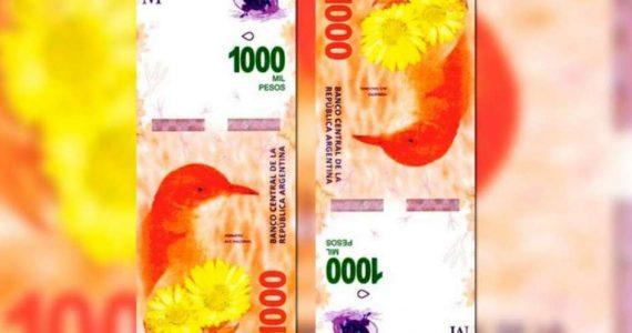 En Diciembre empieza a circular el billete de 1000 pesos