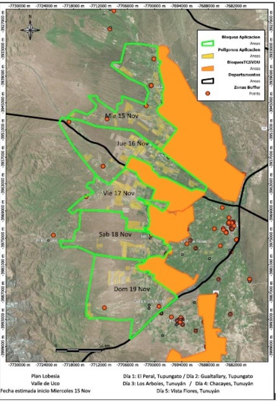 Mapa tratamiento aéreos Tyan - Tgto