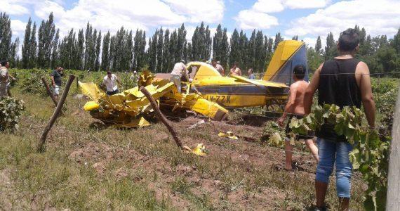 avión que se estrelló en Rivadavia
