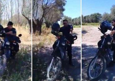 "Investigan a tres policías que fueron ""escrachados"" durante un recreo en Maipú"
