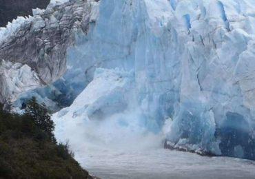 Se rompió el puente de hielo del glaciar Perito Moreno en la noche y sin público