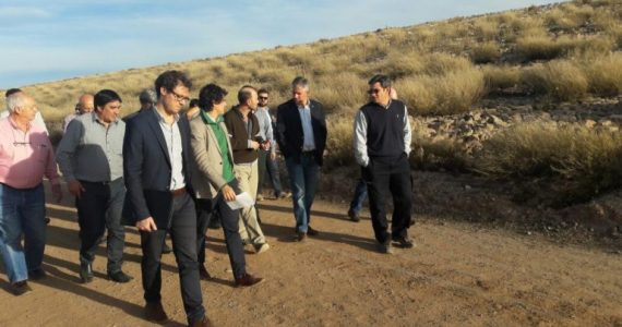 Funcionarios nacionales y provinciales visitaron el sitio donde se emplazará Portezuelo del Viento