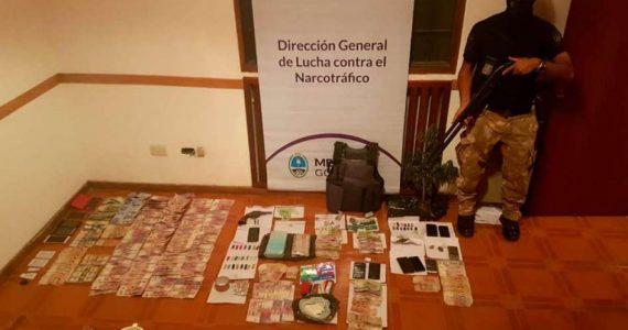 Los elementos secuestrados en Tunuyán Prensa Ministerio de Seguridad