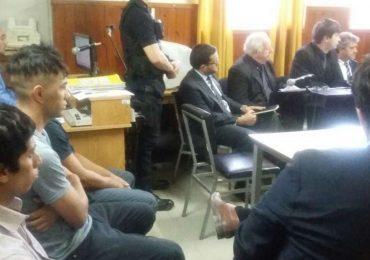 Los acusados durante la audinencia de prisión preventiva.