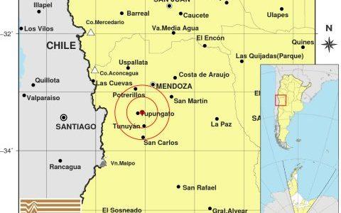 sismo con epicentro en Tupungato
