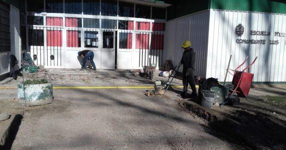 Nuevos contrapisos-de-patios en la escuela Luis Piedra Buena