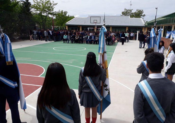 Inauguraron el playón deportivo de la Escuela Piaggi en Tupungato