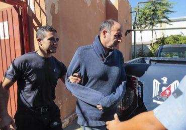 Leonardo Hisa, horas después de ser detenido por el homicidio de ex mujer.