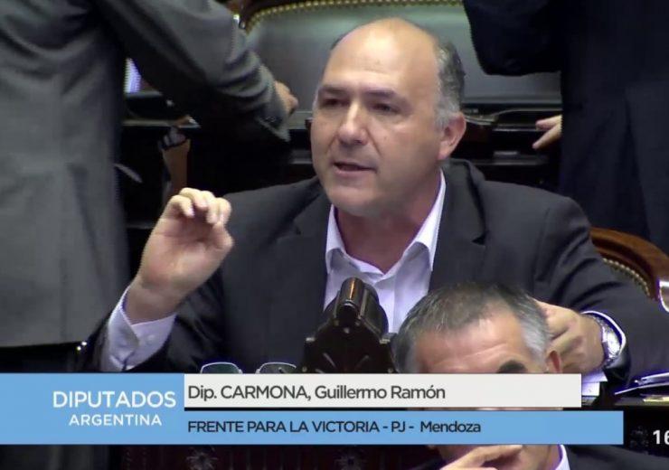 El diputado nacional mendocino Guillermo Carmona fue uno de los protagonistas del rechazo de la Cámara Baja.
