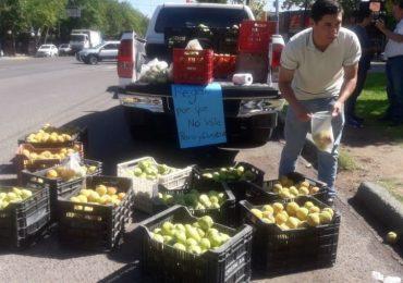 Regala fruta en Tunuyán